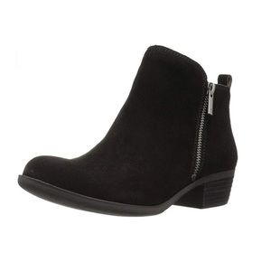 Lucky Brand 'Basel' Booties - Black Suede Size 9.5